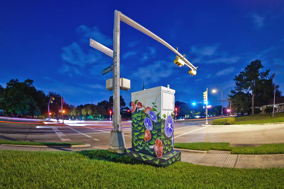Up Art Studio utility box by Anat Ronen