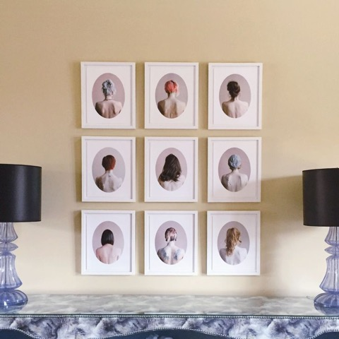 "Tara Bogart and the pieces are from her series titled ""A Modern Hair Study""."