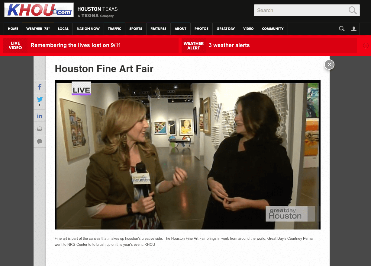 Lea Weingarten interviewed on KHOU Great Day Houston with Courtney Perna