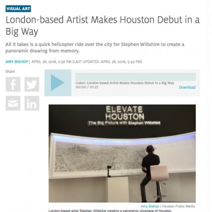 Stephen Wiltshire, Weingarten Art Group, Houston, Houston Public Media