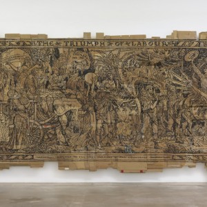 "Andrea Bowers ""Triumph of Labor"", 2016, Marker on cardboard"