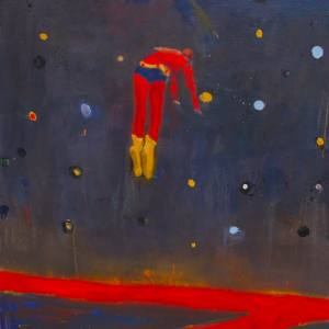 "Katherine Bradford, ""Superman Responds, Night,"" 2012"