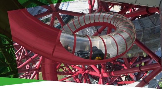 Anish Kapoor's impression of the slide. Photo courtesy of The Telegraph.