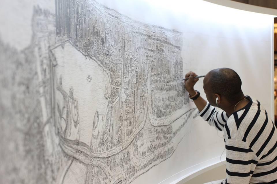 Stephen Wiltshire Project, Elevate Houston, Weingarten Art Group