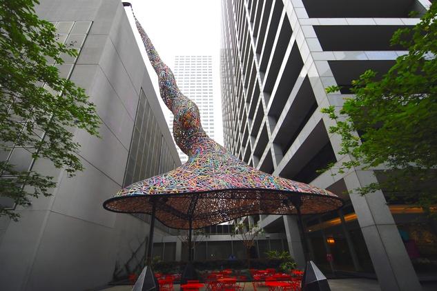 Trumpet Flower, Weingarten Art Group, Art Blocks, Downtown Houston, Public Art