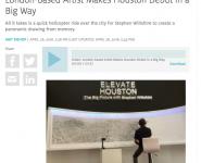 Houston Public Media: London-based artist makes debut
