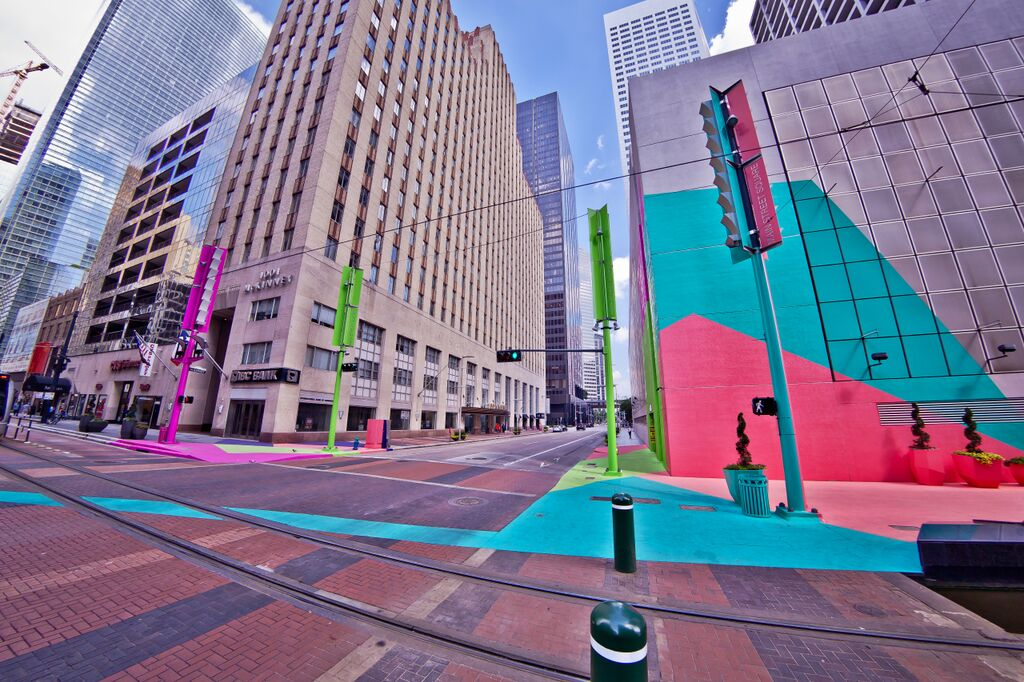 Color Jam Houston, Jessica Stockholder, Art Blocks Houston, Photo by Morris Malakoff