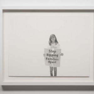 Andrea Bowers, Study from May Day March, Los Angeles 2010 (Stop Ripping Families Apart), 2010