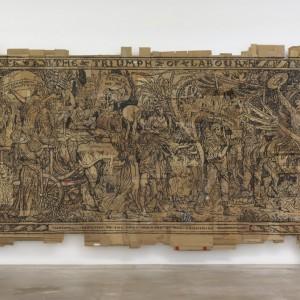 "Andrea Bowers ""Triumph of Labor"", 2016, Marker on cardboard"