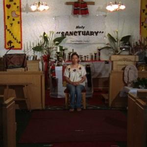 Andrea Bowers Sanctuary, 2007, film still, 16 mm film transferred to HD video