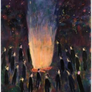 "Katherine Bradford, ""Bonfire"" (2016)"