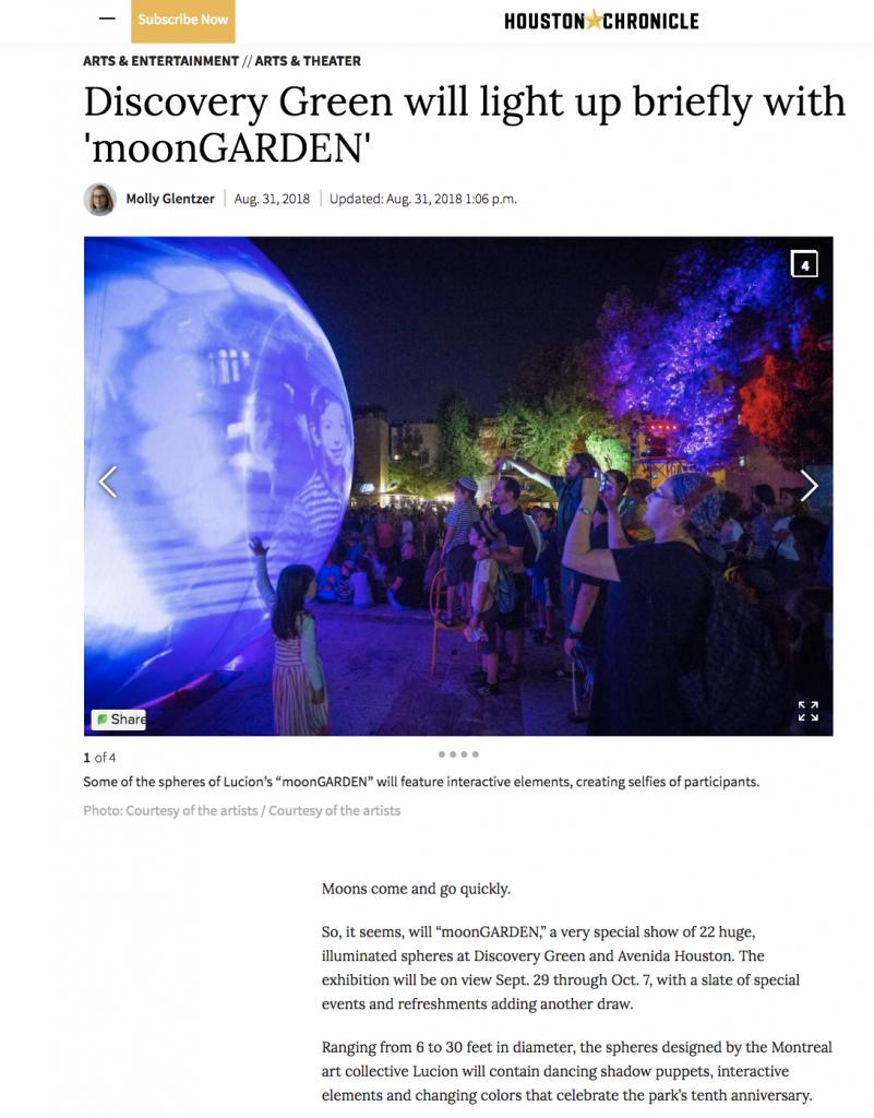 Houston Chronicle moonGARDEN